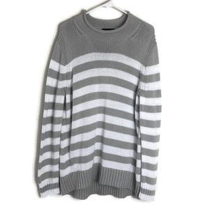 J Crew Retro 1988 Rollneck Striped Knit Sweater